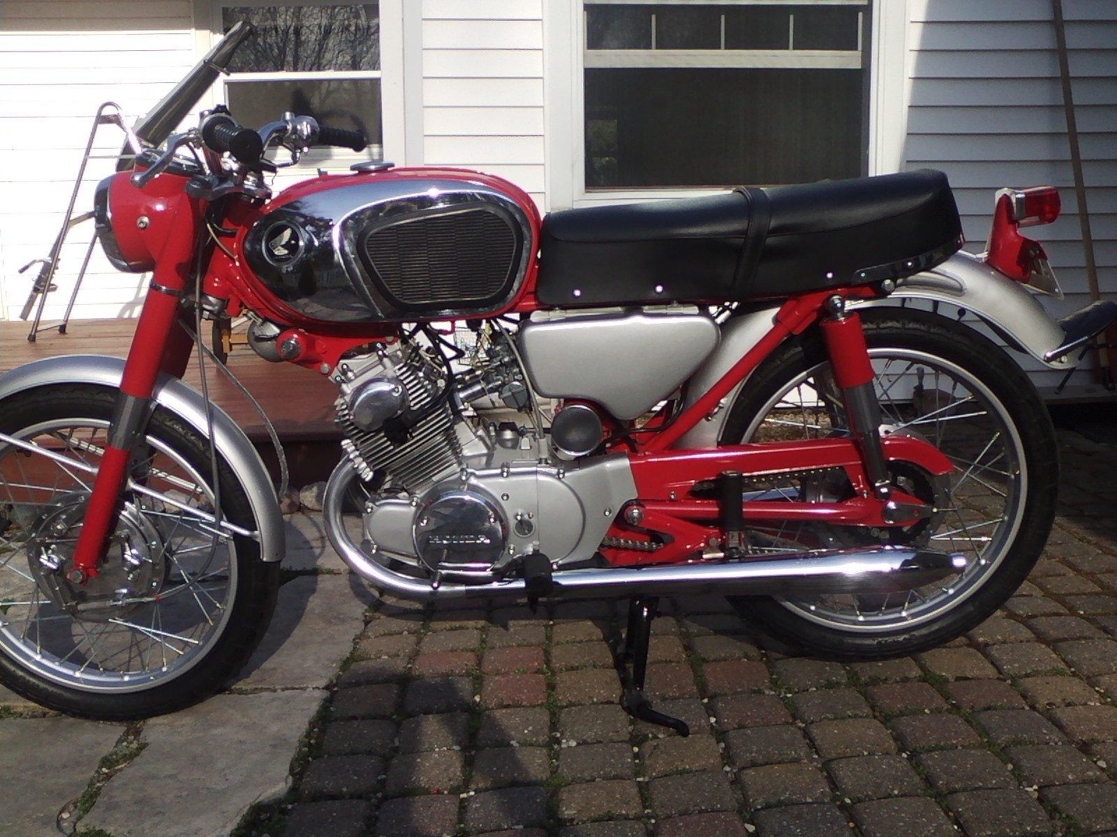 Restored Honda CB160 - 1968 Photographs at Classic Bikes ...