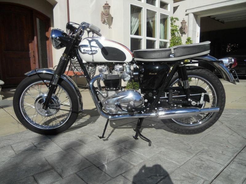 Restored Triumph Bonneville 1966