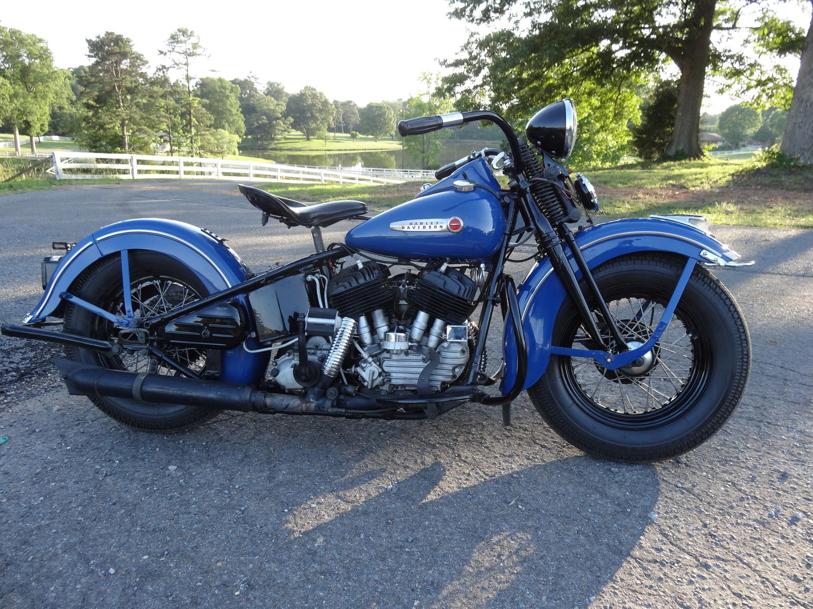 Restored Harley Davidson Flathead 1947 Photographs At