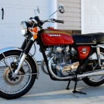 Honda CB450 - 1974 - Front Wheel, Forks, Frame, Indicators and Brake.