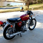 Honda CB450 - 1974 - Rear Fender, Rear Light, Rear Wheel and Shock Absorber.