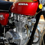 Honda CB450 - 1974 - Motor and Transmission, Kick Start, Frame, Cylinder Head and Engine Cases.