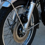 Honda CB450 - 1974 - Front Wheel, Disc Brake, Fork Bottom and Front Fender.
