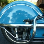 Indian Four - 1941 - Rear Wheel. Rear Fender, Suspension and Brake Arm.