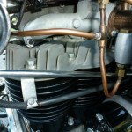 Indian Four - 1941 - Oil Lines, Cylinder Head and Cables.