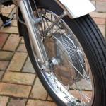 Yamaha YR5 - 1972 - Wheel Rim, Spokes, Fender, Wheel Spindle and Wheel Hub.