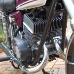 Yamaha YR5 - 1972 - Twin Cylinder Two Stroke, Heads and Barrels, Frame Down Tubes and Engine Cases.