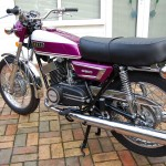 Yamaha YR5 -1972 - Exhaust, Chain Guard, Turn Signal, Chain and Sprocket.