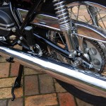 Yamaha YR5 - 1972 - Chrome Chain Guard, Swing Arm and Chain Adjuster.