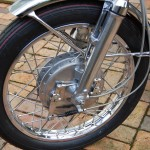 Yamaha YR5 - 1972 - Front Wheel, Brake, Speedo Cable, Brake Cable, Front Mudguard, Fork Leg and Dust Cover.