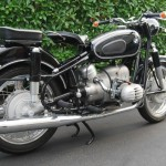 BMW R60/2 - 1962 - Left Side View, Rear Suspension, Seats, Frame and Rear Fender.