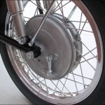 BMW R60/2 - 1962 - Front Brake Hub, Stainless Spokes, Wheel Rim and Tyre.