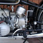 BMW R60/2 - 1962 - Engine and Gear Box, Motor and Transmission, Carburettor, Intake Pipe, Gear Lever, Air Filter Housing, Kick Start and Cylinder Head.
