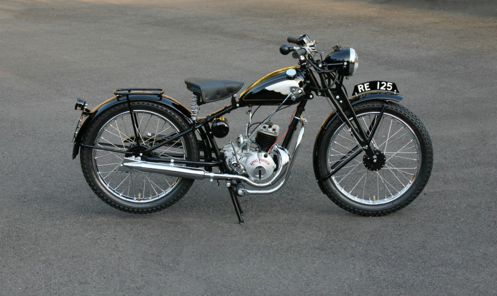 Restored Royal Enfield Re125 Flying Flea 1948 Photographs At Classic Bikes Restored Bikes