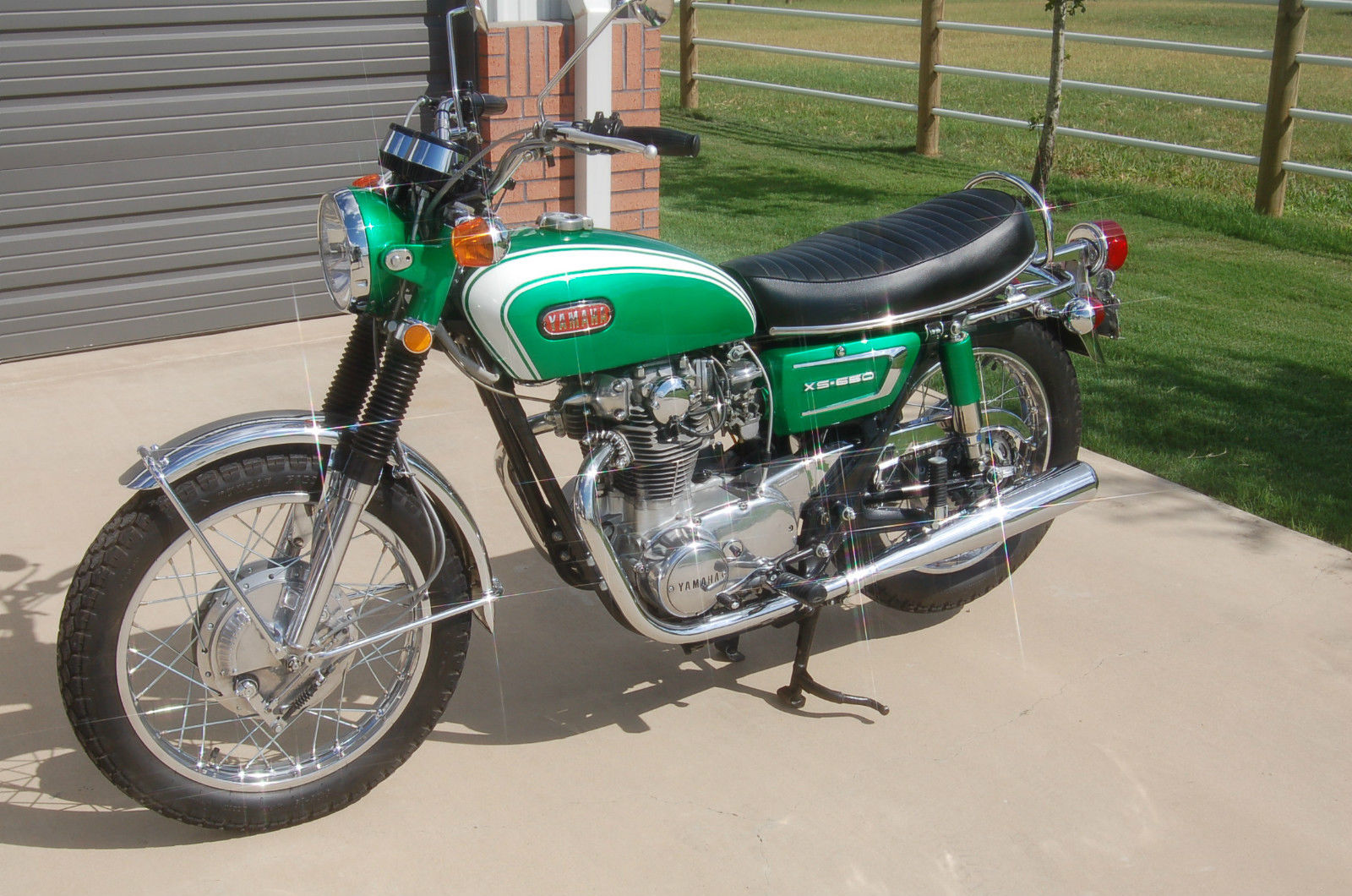 restored yamaha xs650 1972 photographs at classic bikes