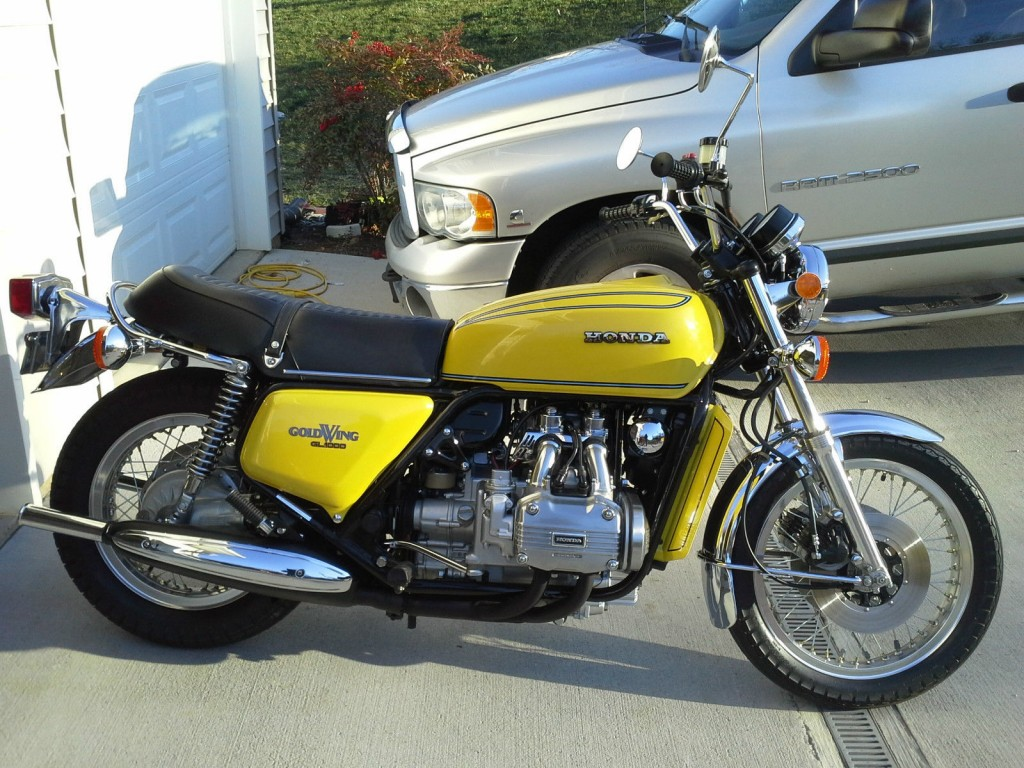 Restored Honda Goldwing GL1000 - 1976 Photographs at ...