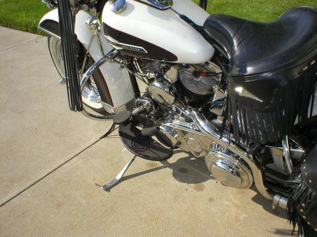 Restored harley davidson panhead 1951 photographs at classic bikes