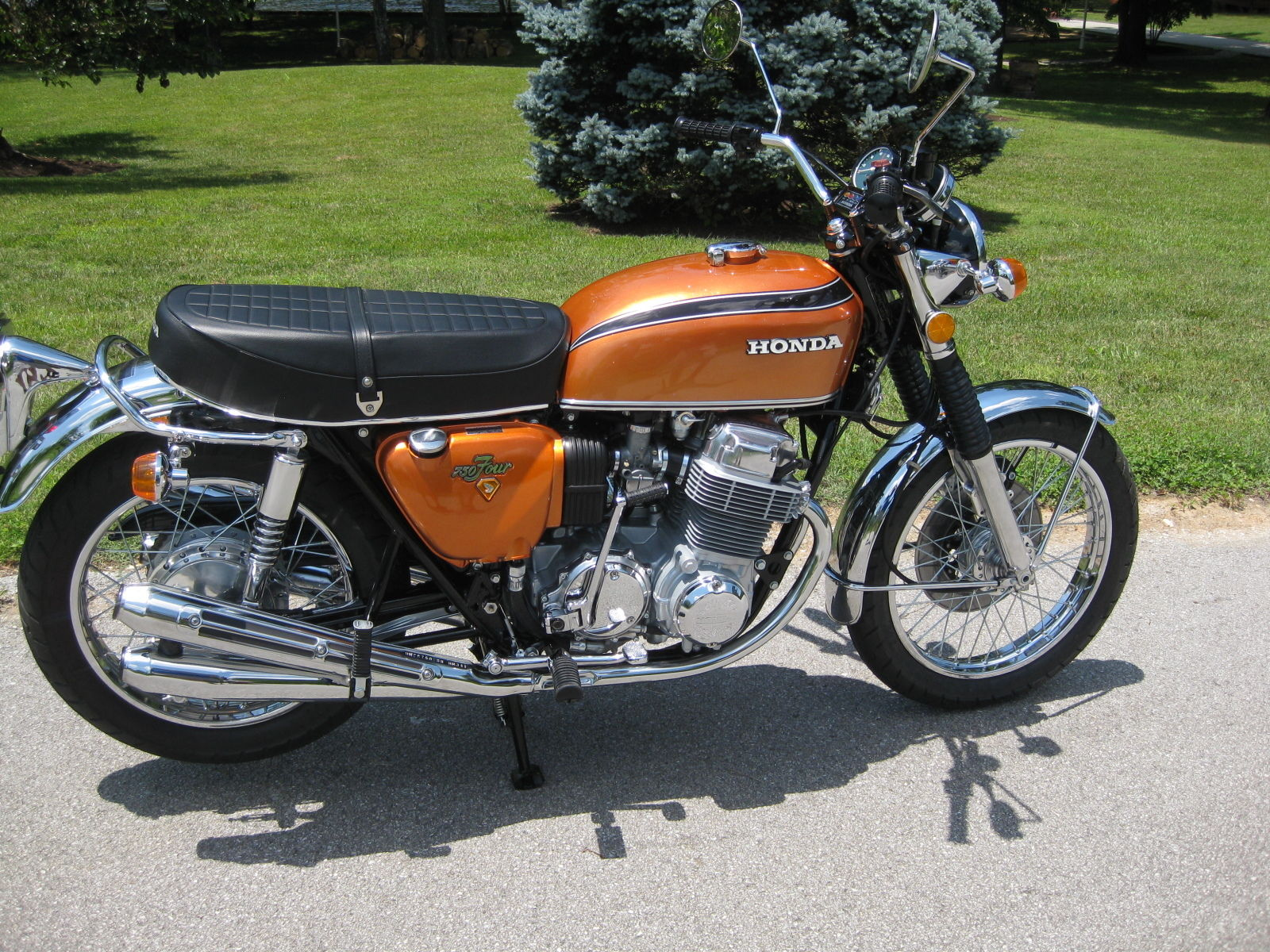 Restored honda cb750 1972 photographs at classic bikes restored honda cb750 1972 publicscrutiny Choice Image