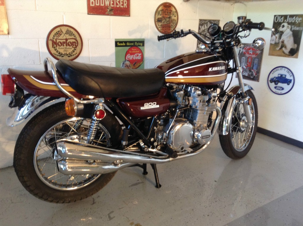 kawasaki z1 1975 restored classic motorcycles at bikes restored bikes re. Black Bedroom Furniture Sets. Home Design Ideas