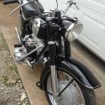 Zundapp KS601 - 1956 - Front End, Mudguard, Wheel, Headlight and Handlebars.