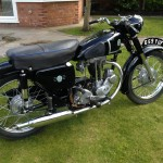 AJS 16MS - 1957 - Fuel Tank, Saddle, Front Mudguard and Rear Suspension.