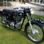 AJS 16MS - 1957 - Gas Tank, Exhaust, Engine and Seat.