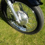 AJS 16MS - 1957 - Front Wheel, Front Forks, Wheel Hub and Tyre.