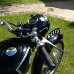 AJS 16MS - 1957 - Fuel Tank, Handlebars, Clock, Speedo and Headlight.