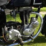 AJS 16MS - 1957 - Engine, Gearbox, Carburettor and Gear Lever.