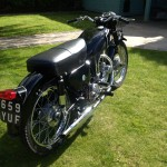 AJS 16MS - 1957 - Rear Mudguard, Seat, Rear Wheel and Number Plate.
