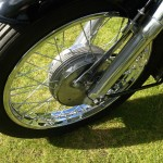 AJS 16MS - 1957 - Front Wheel. Spokes forks and Front Brake,