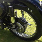 AJS 16MS - 1957 - Rear Shock, Back Drake Drum and Rear Wheel.