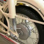 BMW R27 - 1966 - Rear Wheel, Hub, Shock Absorber and Exhaust.