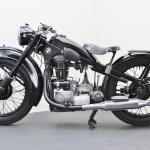 BMW R35 - 1948 - Left Side View, Cylinder, Exhaust, Frame and Engine.