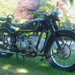 BMW R51/3 - 1951 - Right Side View, Engine Petrol Tank, Brakes and Tyres.