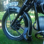 BMW R51/3 - 1951 - Front Wheel, Number Plate, Front Mudguard and Header Pipe.