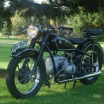 BMW R51/3 - 1951 - Left Side View, Front Wheel, Forks and Headlight.