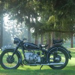 BMW R51/3 - 1951 - Left Side View, Wheels, Gas Tank, Frame, Engine and Transmission.