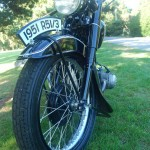BMW R51/3 - 1951 - Front Wheel, and Fender.