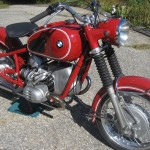 BMW R60 - 1969 - Frame, Front Forks, Motor and Front Wheel.