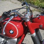 BMW R60 - 1969 - Headlight, Tank, BMW Badge, Handlebars, Cables and Brake Lever.