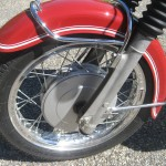 BMW R60 - 1969 - Front Wheel, Spokes, Wheel Rim, Fender and Forks.