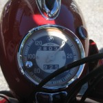 BMW R60 - 1969 - Headlight, Speedo, Headlight and Mileage.