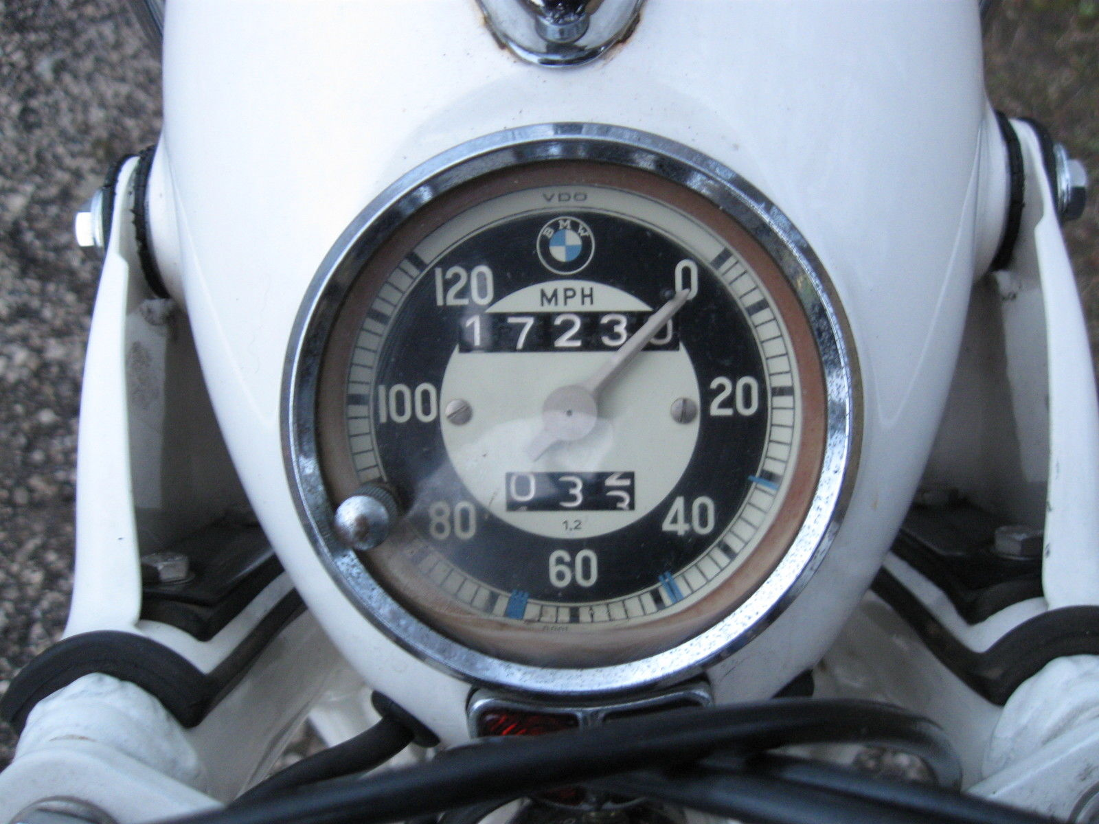 BMW R69S - 1966 - Speedometer, Clock.