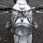 BMW R69S - 1966 - Headlight, Cables and Handlebars.