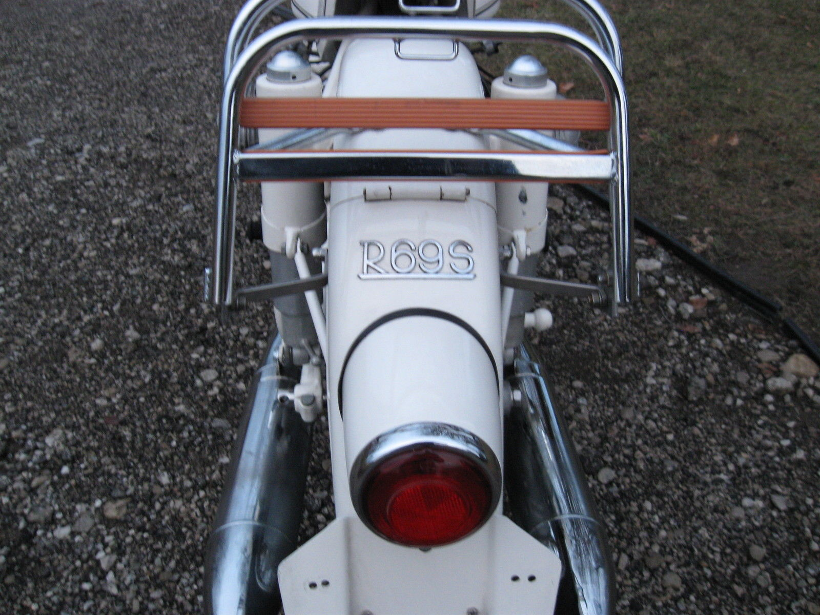 BMW R69S - 1966 - Rear Rack, Rear Light, Tail Light and Fender.