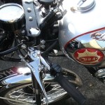 BSA Gold Star - 1955 - Fuel Tank, Headstock and Clip ons.