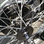 BSA Gold Star - 1955 - Rebuilt Front Wheel, Wheel Hub and Spokes.