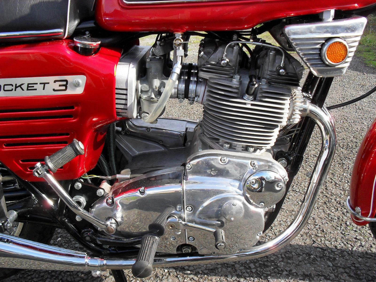 BSA Rocket 111 - 1969 - Engine Detail, Kick Start, Motor, Carburettors, Gear Change and Polished Case.