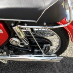 BSA Rocket 111 - 1969 - Left Muffler, Chain Guard and Seat.